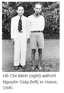 Ho Chi Minh and General Giap