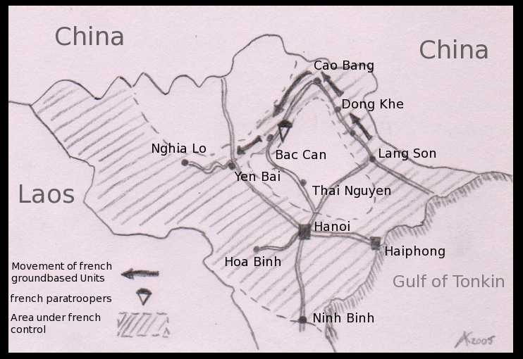 Map of Operation Lea | Indochina 1947