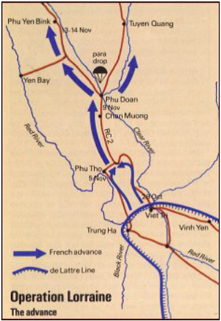 Map of Operation Lorraine