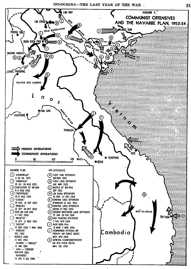 Indochina Map | Last years of the war.