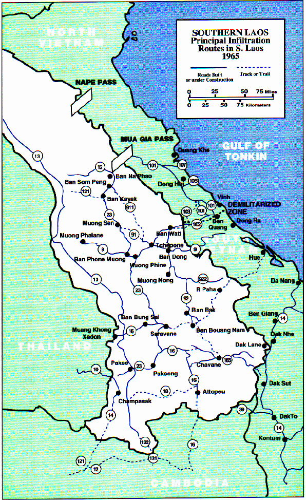 CSVN | Uncle Hos Hideout | Map of Vietname showing the Ho Chi Minh Trail
