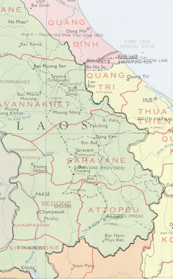 Map Border Regions Laos & Vietnam