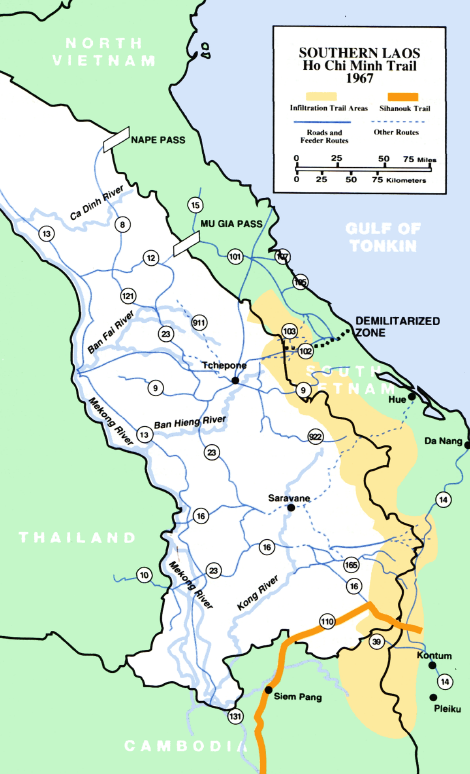 Ho Chi Minh Trail | Map of Southern Laos