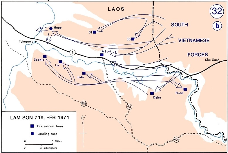 Situation Map of Lam Son, 1971