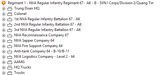 CSVN NVA Regiment OOB
