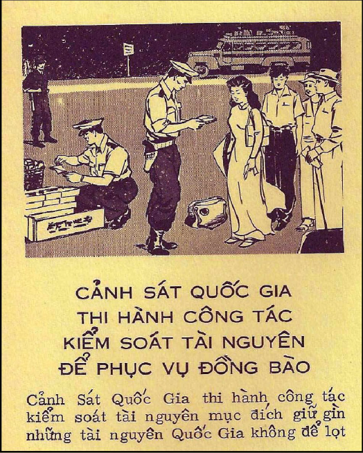 "Leaflet depicting ""White Mice"" inspecting luggage."