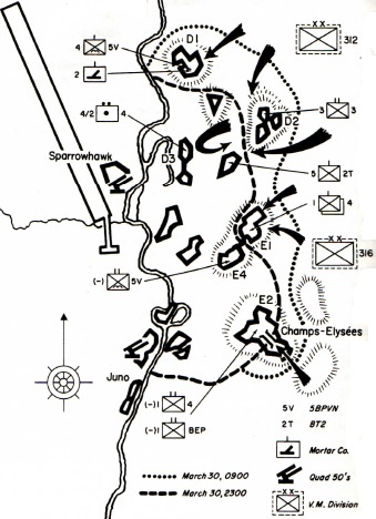 Map of Five Hills Battle