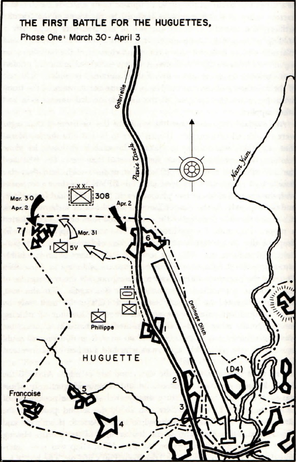 Map of the Huguettes