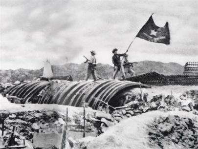 Viet Minh Flag over de Castries' Bunker