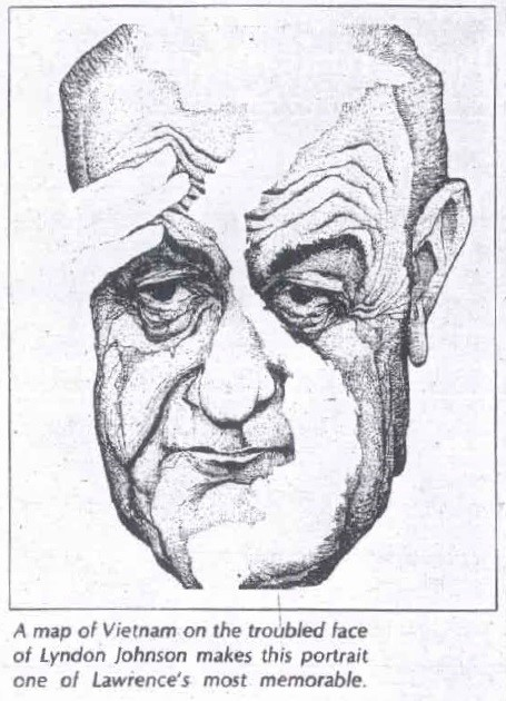 Caricature by Vint Lawrence