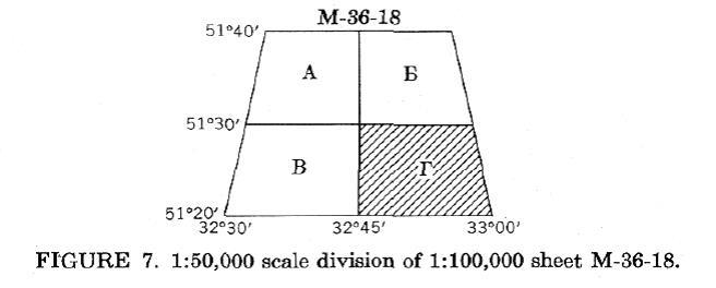 M-36-18 Map Grid