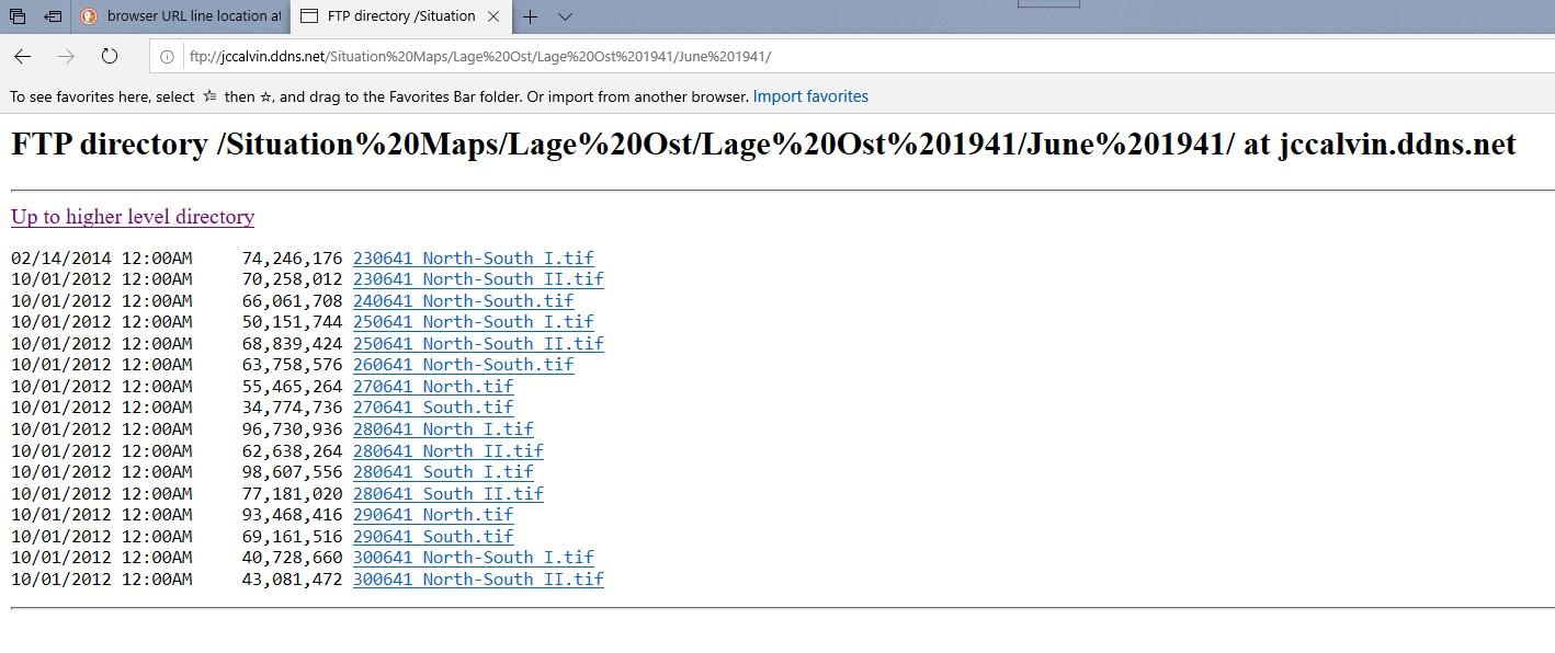 FTP Server Lagekarten Daily