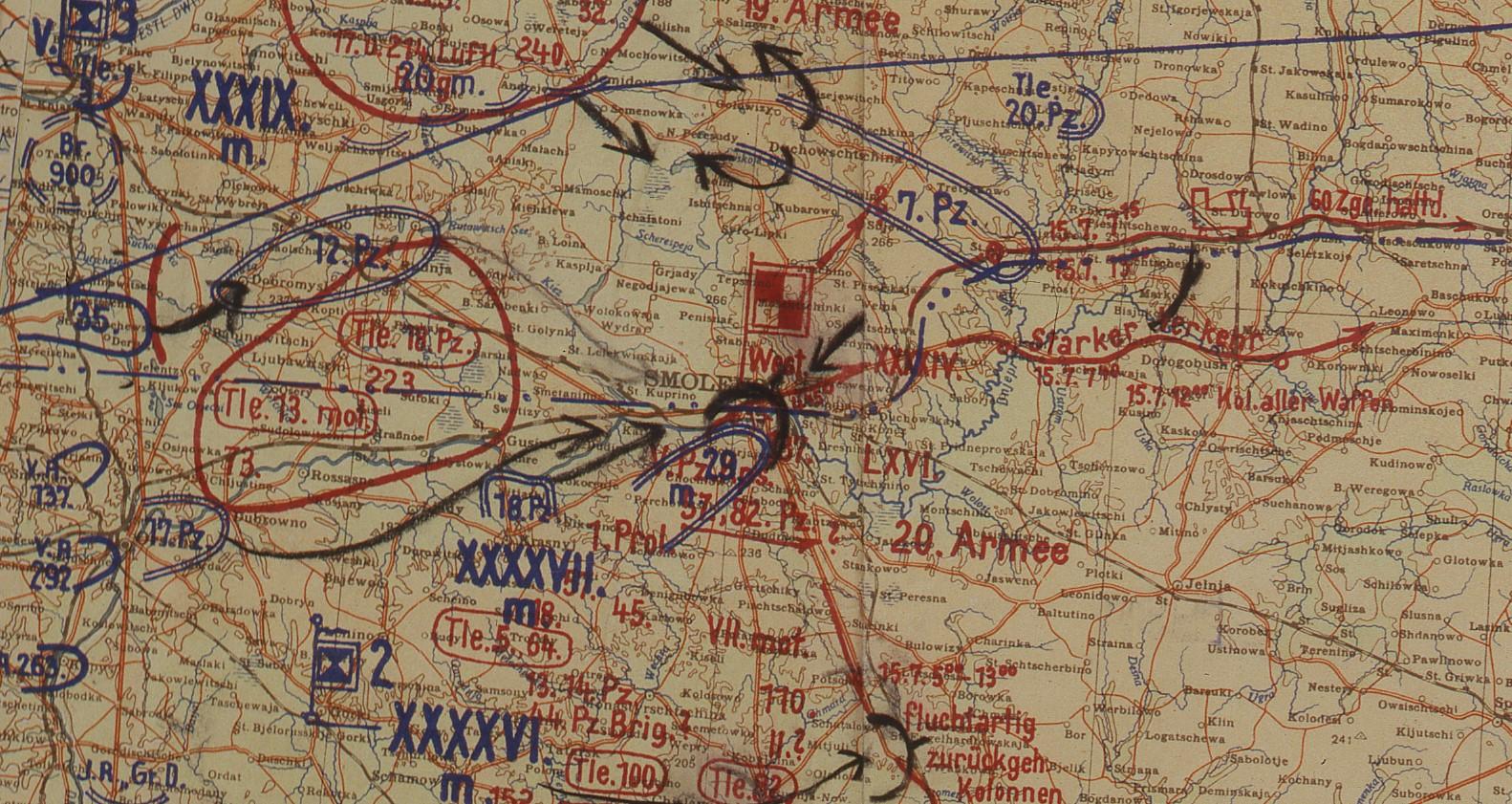 Map around Smolensk