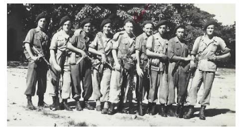 Members of Commando Francois