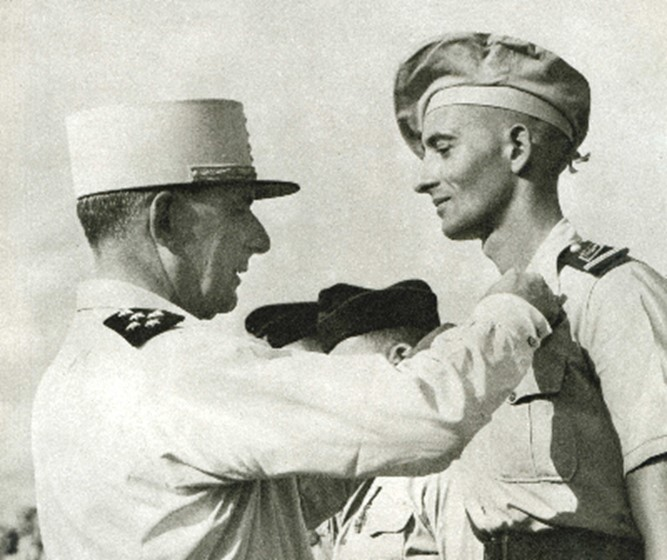 Bernard de Lattre gets his 2nd Croix de Guerre, 11 May, 1951